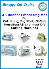 A5 Rubber Embossing Mat for Big Shot, Cuttlebug & Similar : SEA5N1