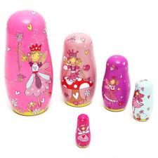5pcs Wooden Fairy Stacking Toys/Russian Nesting Dolls/Matryoshka Girls Gift BS