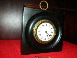 Tischuhr / Wanduhr mit Schnecke und Kette Rarität Taschenuhrwerk sehr alt