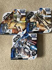 Star Wars Mission Fleet Delux Set At-RT, Speeder Bike, Barc Speeder Set Of 3