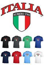 ITALIA Numero Uno flag sport Funny graphic T-shirt Adult tee P544