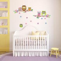 Original UK Owl flower Tree Mural Wall Stickers Decal Home Decorations DIY decor