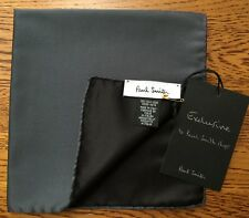 Paul Smith 100% Seide Reversibel dunkelgrau POCKET SQUARE MADE IN ITALY