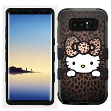 for Samsung Galaxy Note 8 Rugged Hard+Rubber Hybrid Case Hello Kitty #