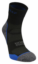 Hilly Urban Mono Skin Supreme Anklet Sports Socks - Black Charcoal Electric Blue