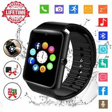 Smart Watch Touch Screen SIM Card Slot Activity Tracker & Camera Fit Kids Adults