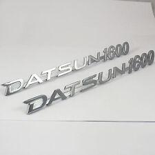 DATSUN 1600 metal Boot & Pillar badges x2 , Badge chrome,New, for 180B SSS 610