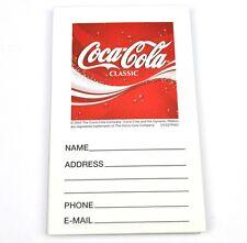Coca-Cola Classic Notepad Address Block - Coke USA Address Pad