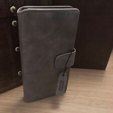 Latest Leather Wallet ION Functional Book Case Grey Sony Xperia XZ PREMIUM