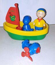 HTF Very RARE Caillou bath toy Sailboat, motor, Caillou & Rexy pop apart figures