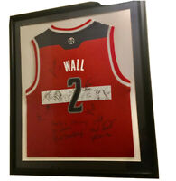 "Framed John Wall And Company Autographed Washington Wizards Jersey 26""X30"""