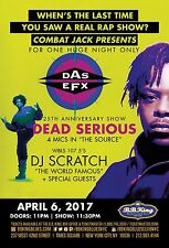 "Das Efx ""Dead Serious"" 2017 New York Concert Tour Poster-East Coast Hip Hop, Rap"