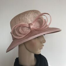 Ladies Pink Elegant Organza Formal Race Wedding Melbourne Cup Hat Gift H436