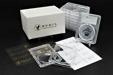 NUMIS 10 Pack 24mm Acrylic Clear Coin Case Slab Holder US Quarters 1828 to Today