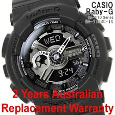 CASIO BABY-G WATCH BA-110BC-1A FREE EXPRESS BLACK BA-110BC-1ADR 2-YEARS WARRANTY