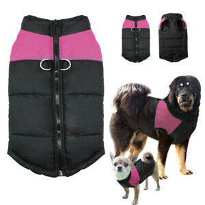 S-7XL Dog Clothes for Big Dogs Waterproof Winter Small Large Coat Jacket Pink