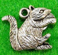 12pcs Enamel Black Squirrel Charms Pendant for Bracelet Jewelry Ornaments 23066