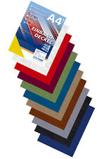 100 Einband Deckblätter, Lederstruktur - 10 Farben Set, DIN A4 Deckblatt