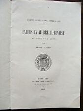 1898 excursion au  BREUIL BENOIST  marcilly sur Eure  PAR HENRY LEHR