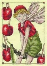 "The Cherry Flower Fairy Cross Stitch Kit - 14 Count - DMC  6"" x 8"""