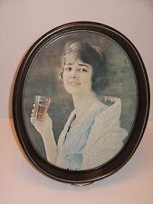 Vintage 1923 Coca Cola Lady Soda Pop Advertising Tin Tray Design Made in 1973