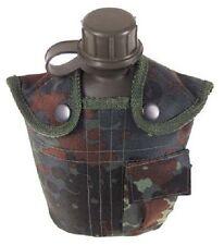 Feldflasche Kunststoff Trinkflasche mit Tarn Nylonbezug coyote tan1 Liter NEU !