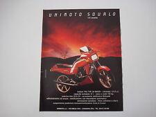 advertising Pubblicità 1984 MOTO UNIMOTO SQUALO 125 STRADALE
