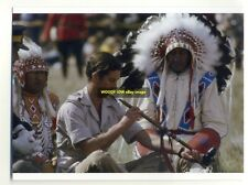 q885 - Prince Charles with American Indians - Royalty postcard