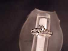 14 Karat Gold Jewelry Oval Diamond Ring With Side Accent's H-I / Vs2