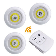 COB LED Night Light Remote Control Tap On Off Mini Portable ABS For Home Kitchen