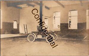 Rare Real Photo Auto Repair Car & West's Garage Ballston Spa NY New York RP D325