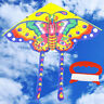 90*55cm Rainbow Butterfly Kite Outdoor Foldable Kids Kite With 50M Control Line!