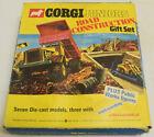 CORGI JUNIORS #3034 ROAD CONSTRUCTION GIFT SET, NEAR MINT MODELS W/ VG BOX!