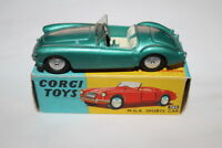 Corgi Toys 302 Metallic Green M.G.A. Sports Car. Early wheels.