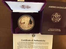 1987-S Silver Eagle Dollar Proof - $1 U.S. Mint 1 oz .999  with Box & COA