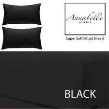 Draps-housses noires pour le lit
