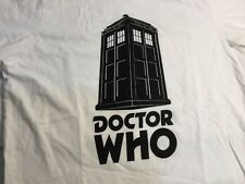 DOCTOR WHO Logo T-Shirt Size UK Large White Great Condition