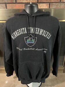 Vintage Minnesota Timberwolves NBA Basketball Hooded Sweatshirt Men Large Logo 7