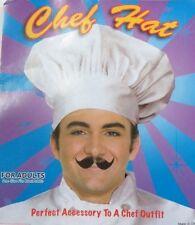 COTTON CHEFS HAT White Master Kitchen Cooking Baker Cap Costume