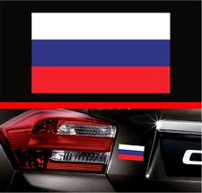 "4"" Russian Flag Vinyl Decal Bumper Sticker Russia USSR Flag Car Laptop Sticker"