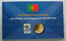 Portugal euro coin set (plusieurs années) plus officiel coupe du monde fifa 2010 médaille