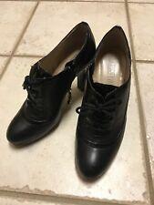 Ellen Tracy Heel black lace-up booties Ankle boots Sz 6 6.5