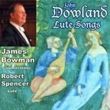 CD JAMES BOWMAN SINGS JOHN DOWLAND LUTE SONGS ROBERT SPENCER CAMPIAN ROSSETER