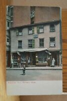 C 1914 Boston Massachusetts - Paul Revere's Home With Pedestrians Postcard