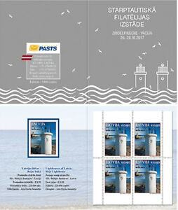 Latvia 2017 Architecture, Lighthouses MNH** booklet