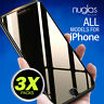 3 X Genuine Nuglas Tempered Glass Screen Protector for Apple iPhone 7 8 Plus
