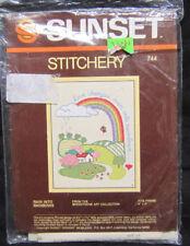 Sunset Stitchery Kit #744 Rain Into Rainbows 4 x 5