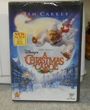 Disney's A Christmas Carol (DVD, 2010) JIM CARREY BRAND NEW