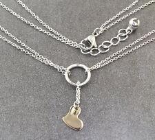 N338 Halskette Edelstahl Anhänger Herz Damen Necklace Heart Pendant Silber Gold