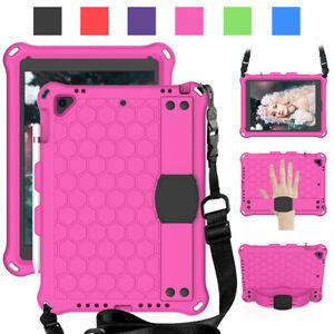 For iPad Air A1474 A1475 A1566 A1567 Kids Shockproof EVA Foam Case Cover w Strap